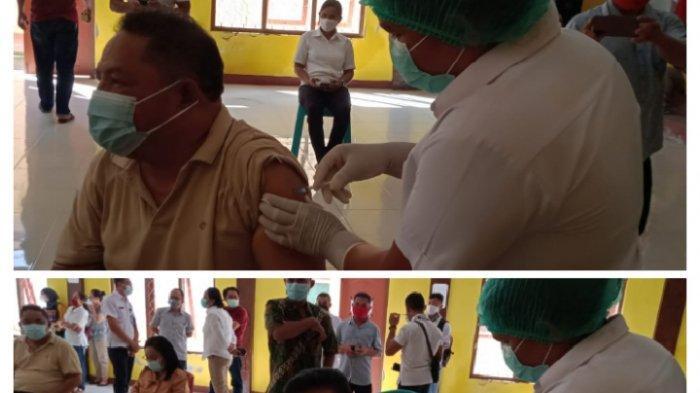 Di Manggarai Timur, Bupati Agas dan Wabup Jaghur Disuntik Vaksin Covid-19 Tahap 1, Simak Beritanya