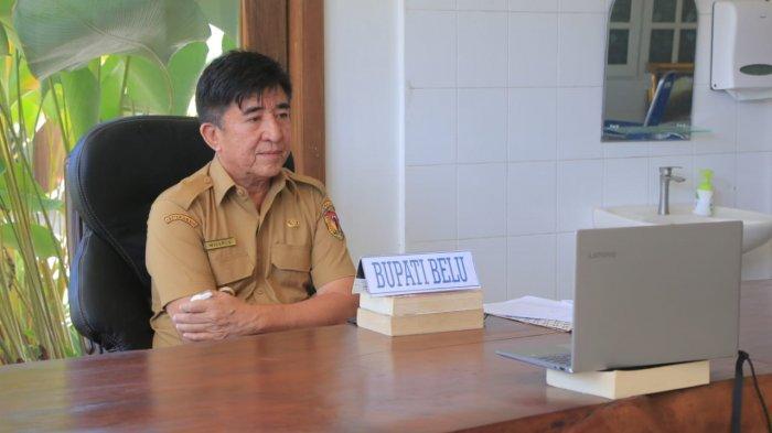 Bupati Belu, Willy Lay Ikut Teleconference Dengan Gubernur NTT Soal Covid 19