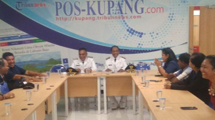 Setelah Dilantik, Bupati dan Wabup Sikka Berkunjung ke Pos Kupang