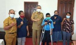 Bupati Djafar Dukung Perkumpulan Penyandang Disabilitas Keuskupan Agung Ende