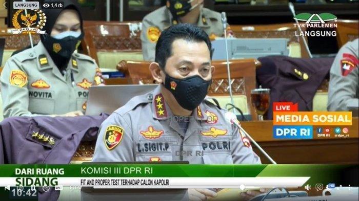 Live Streaming Uji Kelayakan Calon Kapolri Komjen Listyo Sigit Prabowo.