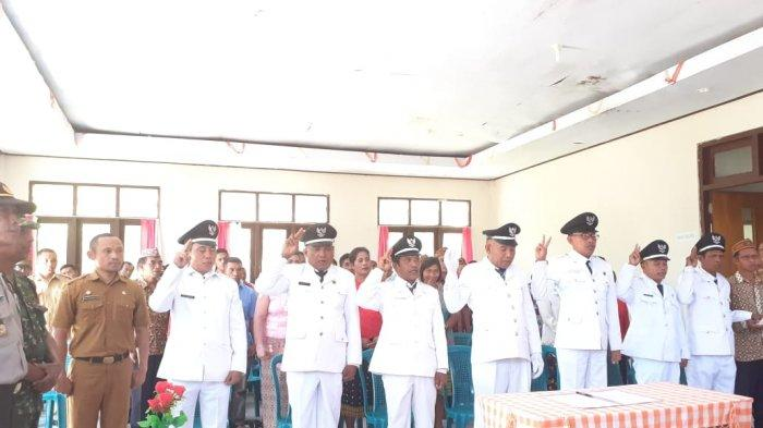 Di Manggarai -Camat Karolus Lantik 7 Pejabat Kades