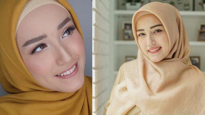 Cantiknya Adelia, Istri Pasha Ungu Dalam Balutan Baju Syari, Sahur Pertama Pecel Ayam Bandung