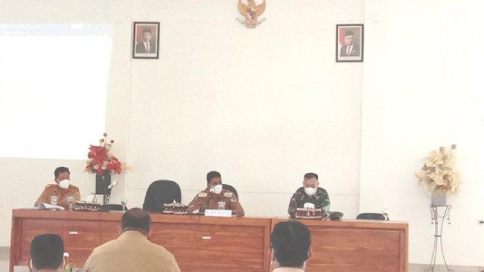 David Melo Wadu Pimpin Rapat Evaluasi Penanganan Covid-19, Berharap Kasus Jadi Nol