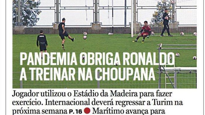 Cristiano Ronaldo Keluar dari Isolasi Rumah, Ikut Latihan di Stadion Madeira Portugal