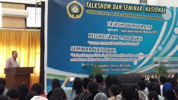 Hadirkan Doktor Termuda, BEM Faperta Bersama HMJ Kimia FST dan FKIP Undana Gelar Talkshow