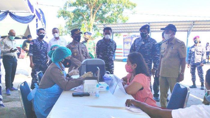 Danlantamal VII Kupang Launching Serbuan Vaksin Masyarakat Maritim di NTT dan NTB