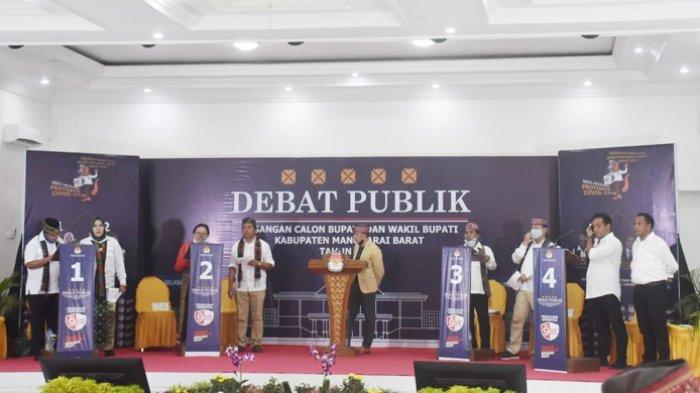 Debat Publik Paslon Bupati dan Wabup Manggarai Barat 2020 Diwarnai Aksi 'Kipas'