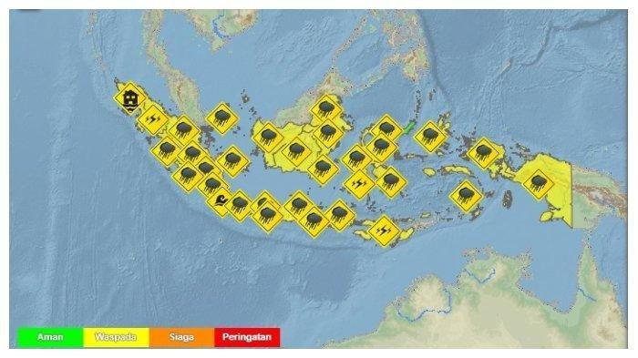 Besok 3 Kota Besar Terjadi Hujan Ringan. Prakiraan Cuaca 33 Kota di Indonesia Jumat 5 Maret 2021