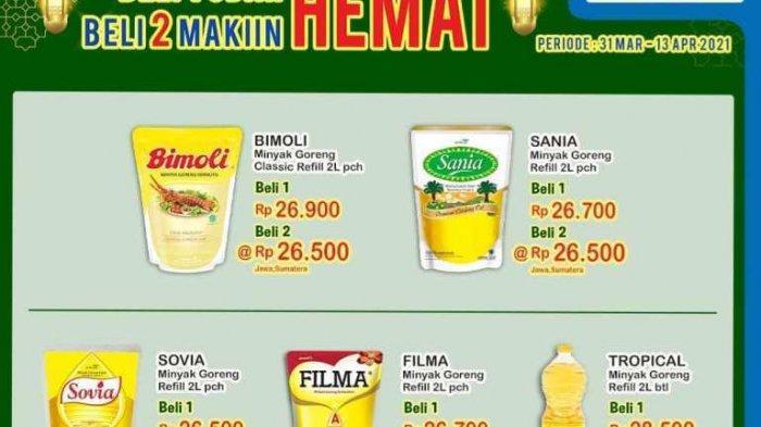 PROMO Indomaret HAri Kamis 1 April 2021 :Beli 1 Produk Minyak Goreng Udah Hemat, Beli 2 Makin Hemat
