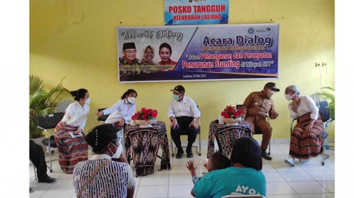 Di Kota Kupang, Menko PMK dan Menteri PPPA Dialog Stunting Bersama Kader Kelurahan Tangguh