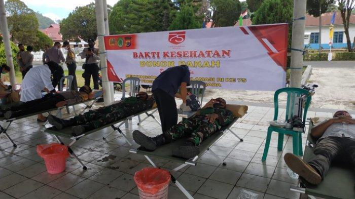 Di Ngada, TNI, Polri dan ASN Setda Ngada Adakan Donor Darah Massal