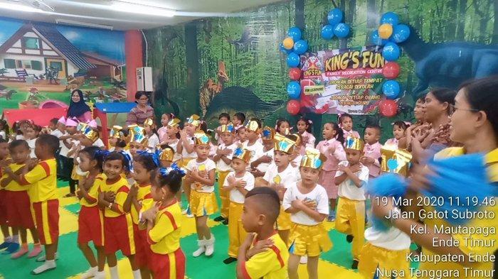 Digelar King's Fun Ende, Siswa PAUD Senang Ikut Lomba Yel