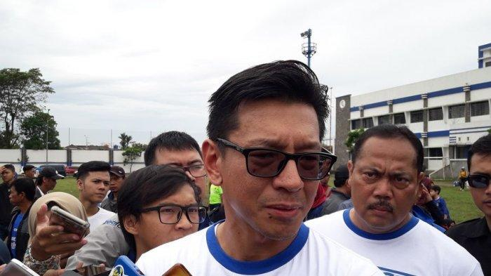 Direktur PT Persib Bandung Bermartabat ( PT PBB), Teddy Tjahjono Stadion Sidolig, Minggu (10/12/2017