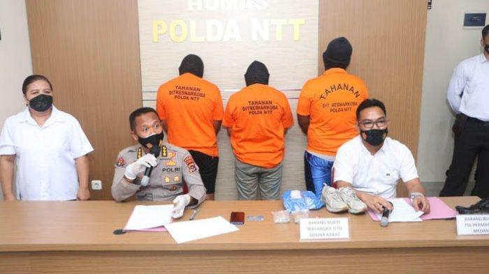 Ditresnarkoba Polda NTT Berhasil Bekuk Tiga Pelaku Narkotika Via Medsos