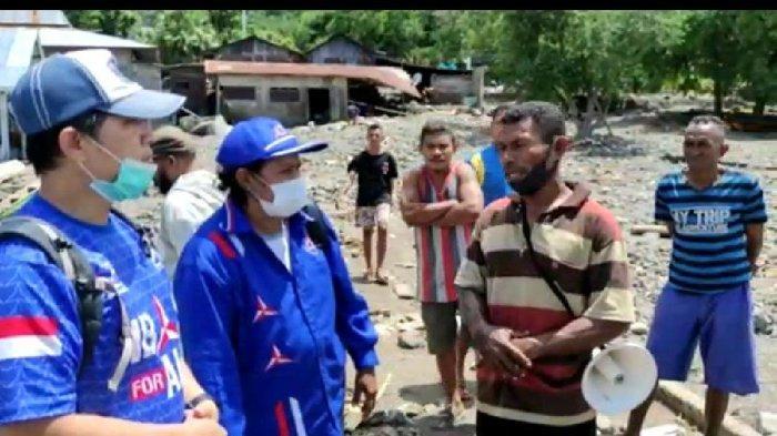 Peduli Bencana, Demokrat Salurkan Bantuan untuk Korban Badai di Kabupaten Alor