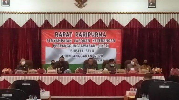 DPRD Kabupaten Belu Sidang LKPJ Bupati Tahun 2020