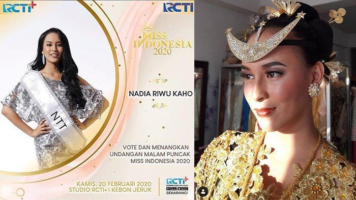 Dukung Nadia Riwu Kaho Wakil NTT Jadi Juara di Ajang Miss Indonesia 2020, Begini Cara Votenya!