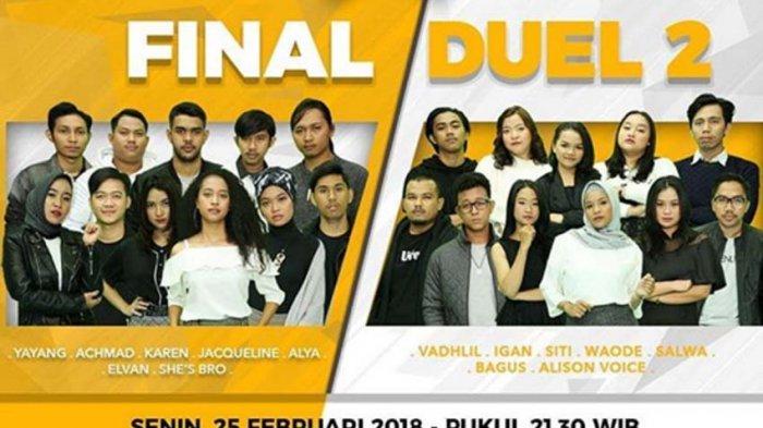 Live Streaming RCTI! Rising Star Indonesia Malam Ini, Waode vs Salwa, She's Bro vs Jacquelene!