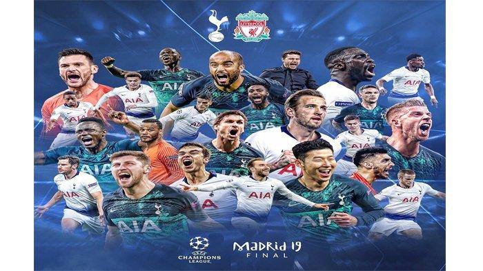 Live Streaming Tottenham Hotspur vs Liverpool Final Liga Champions, Minggu (2/6) Jam 02.00 WIB