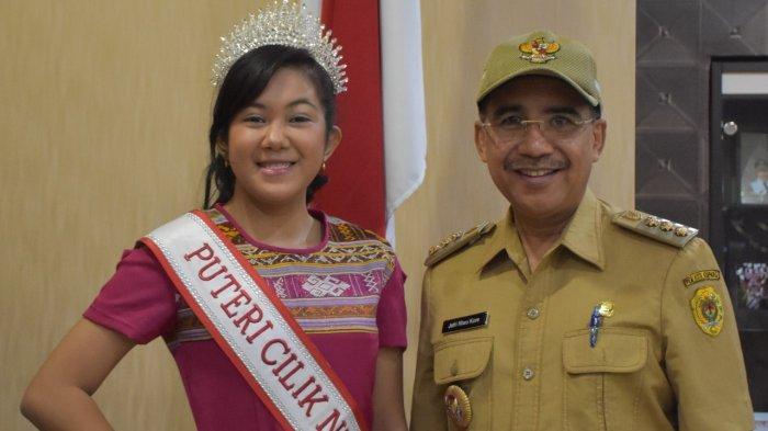 Finalis Puteri Cilik 2020, Cia Rondo Minta Restu Wali Kota Kupang