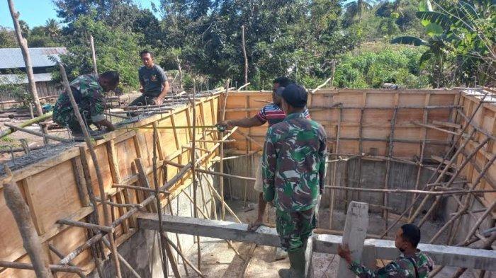 Pemasangan Pompa Hidram oleh Kodim 1618/TTU di Kelurahan Tubuhue Mencapai 95%