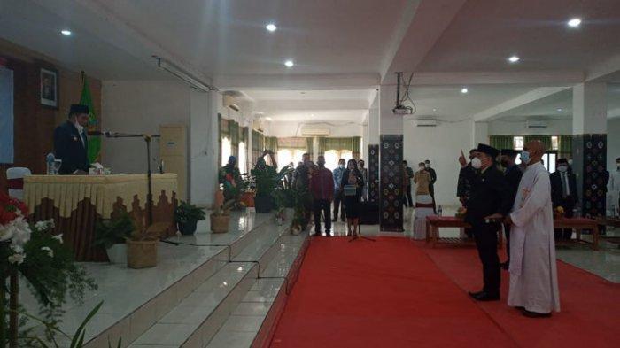 Fransiskus Sales Sodo Dilantik Jadi Sekda Kabupaten Mabar