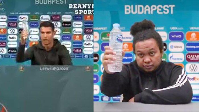 Aksi Cristiano Ronaldo Geser Botol Minuman Ditiru Komedian Indonesia, Kocak Sekali