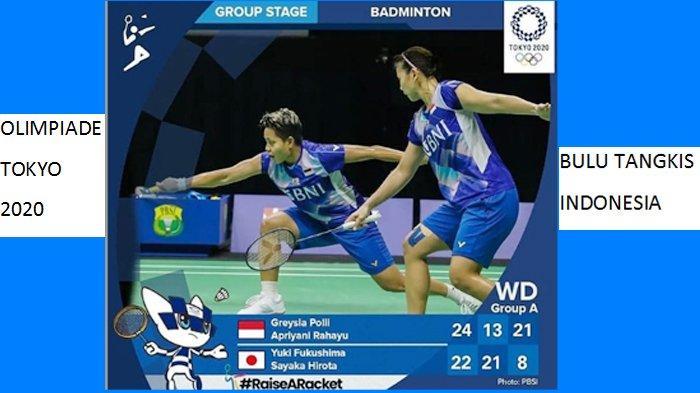 Siaran Langsung Badminton Olimpiade Tokyo 2020, Polii G & Rahayu A Vs Lee S. H dan Shin Live TVRI