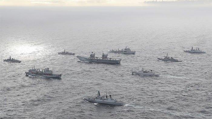 Armada Perang Inggris Beroperasi di Laut China Selatan China Tuduh Inggris Hidup di Zaman Kolonial