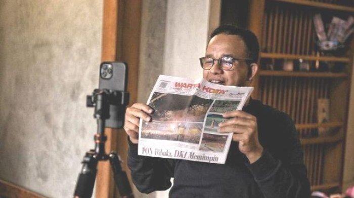 Gubernur DKI Anies Semangati Kontigen Jakarta Sedang Berjuang di PON XX Papua Melalui Video Call