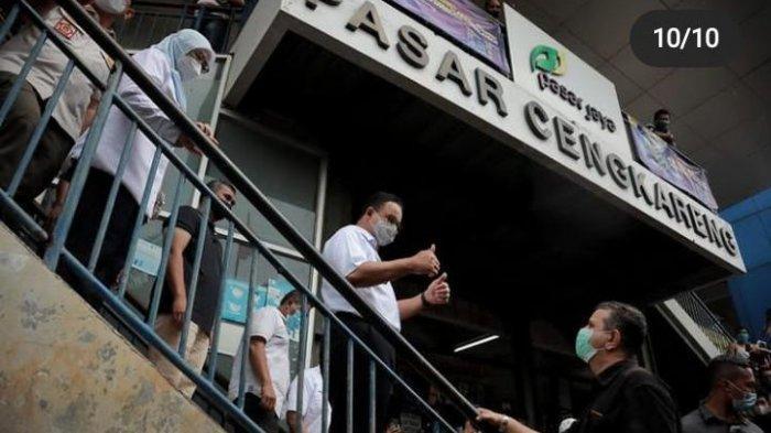Anies Baswedan Kunjungi Tiga Pasar di Jakarta, Netizen: Petenya Menggoda, Sehat Selalu Pak Anies