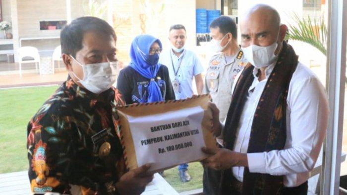 Gubernur Kaltara Zainal Paliwang Antar Langsung Bantuan Bencana dari Seluruh ASN ke Gubernur NTT