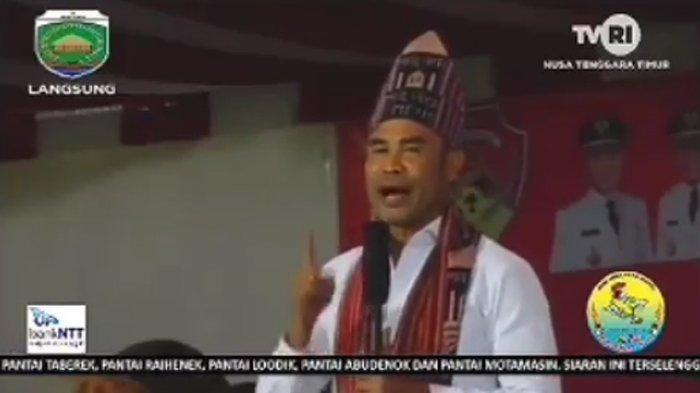 VIRAL! Video Gubernur NTT Viktor Laiskodat Marahi Atlet yang Jongkok di Lapangan, Atlet Kok Malas!