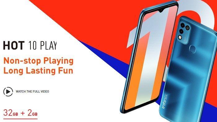 HP Infinix Hot 10 Play Dengan Baterai 6000mAh Chipset Gaming Harga Hanya Rp 1,2 Jutaan