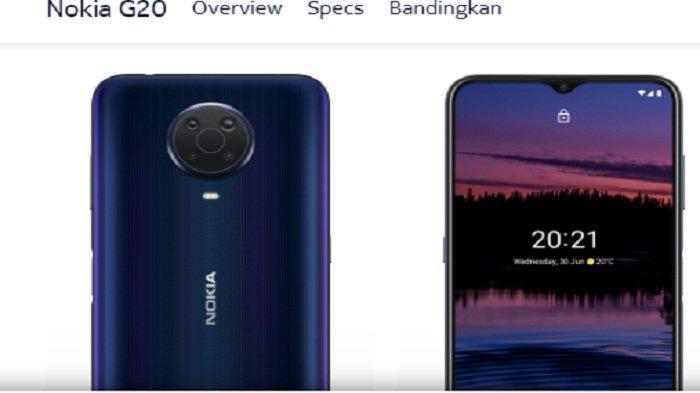 Nokia G20 Seperti Studio Kreatif yang Bisa Di Saku, Baterai 3 Hari Harga Hanya Rp 2,4 Jutaan