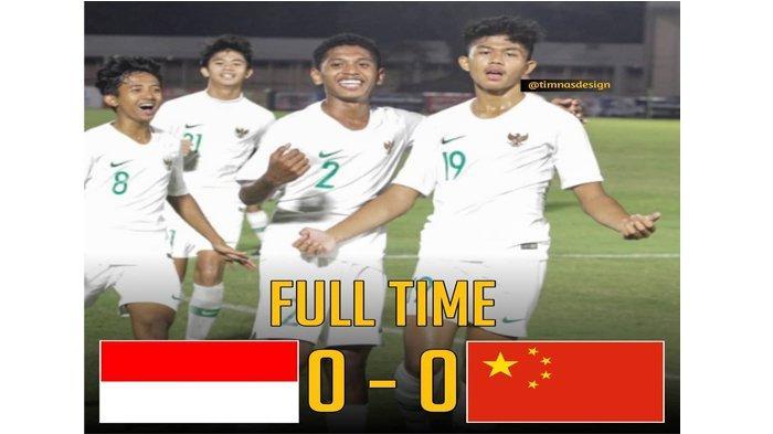 Hasil Indonesia vs China Kualifikasi Piala Asia U16 2020, Skor Akhir 0-0 Tim Garuda Runner Up Grup G