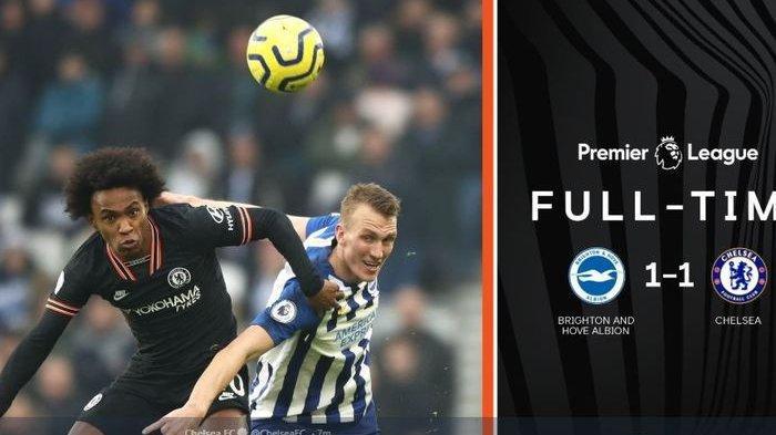 Hasil Liga Inggris - Gol Indah Alireza Jahanbakhsh Buyarkan Kemenangan Chelsea Atas Brighton Albion