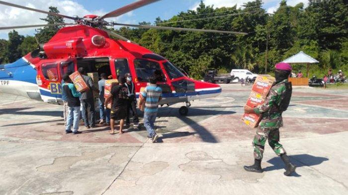 Helikopter BNPB Terus Salurkan Logistik Bencana di Lokasi Terpencil di Lembata