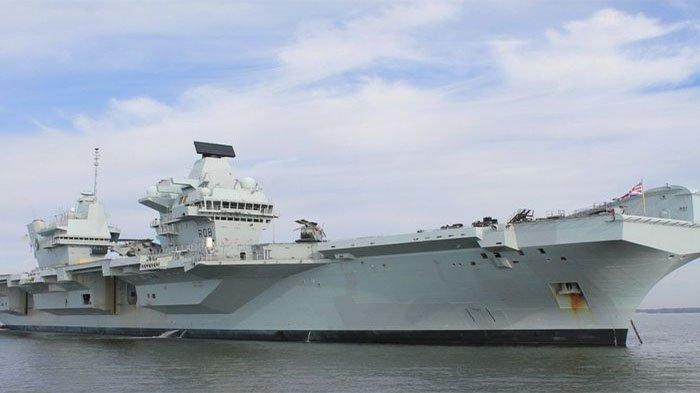 HMS Queen Elizabeth bersama grup tempur ke Laut China Selatan dan Indo Pasifik