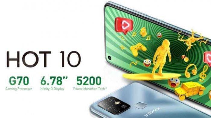 HP Infinix Hot 10 hanya Rp 1 Jutaan, Ini Spesifikasi ponsel Infinix Hot 10 Baterai Besar dan RAM 4GB