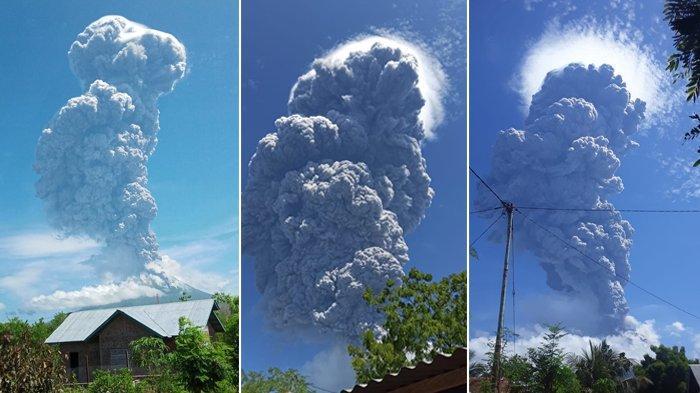 Hujan Batu Akibat Gunung Ile Lewotolok Membuat Warga Panik dan Takut,