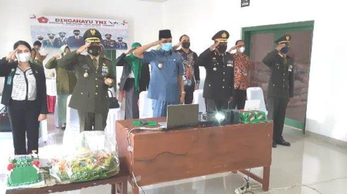 Wakil BupatiJohn Lado Hadiri Perayaan HUT TNI Ke-76 Tingkat Kodim 1613 Sumba Barat