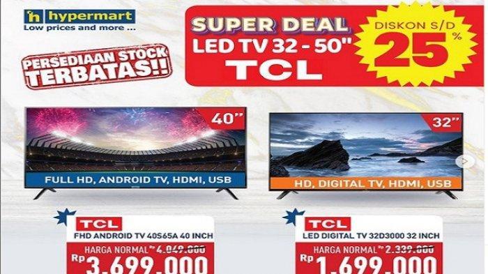 Hypermart Hari Ini 1 April 2021 Barang Elektronik Diskon25% Potong Ongkir Rp15 Ribu Buah Segar Murah