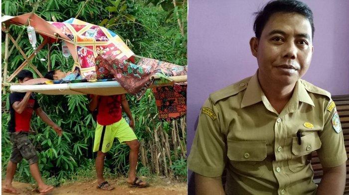Jelang HUT Ke-72 RI Masih Ada Ibu Hamil yang Ditandu Lintas Kecamatan untuk Proses Persalinan