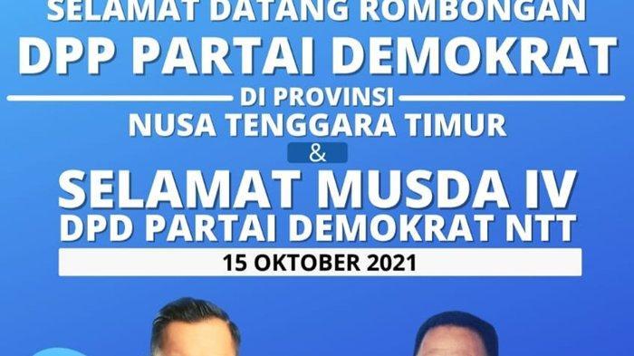Lelo Lelo Bulatkan Tekad Rebut Kursi Ketua DPD Demokrat NTT  di Ajang Musda IV Besok