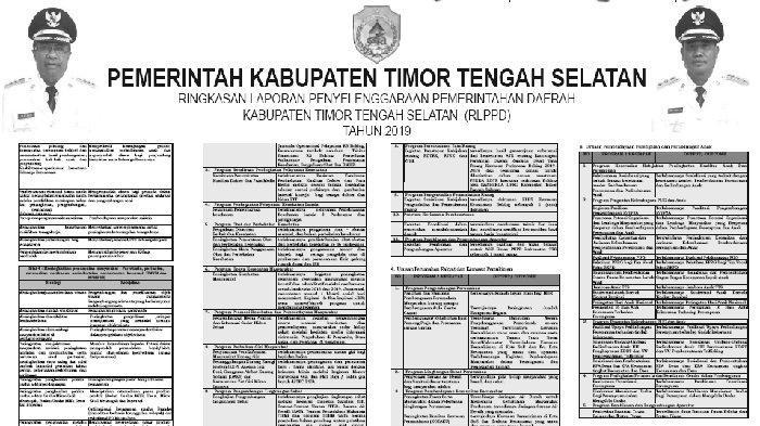 Inilah ILPPD 2019 Kabupaten Kabupaten Timor Tengah Selatan NTT, Berikut Ini Linknya