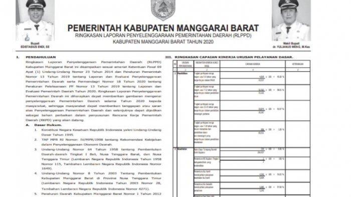 Simak RLPPD / ILPPD Kabupaten Manggarai Barat NTT Tahun 2020