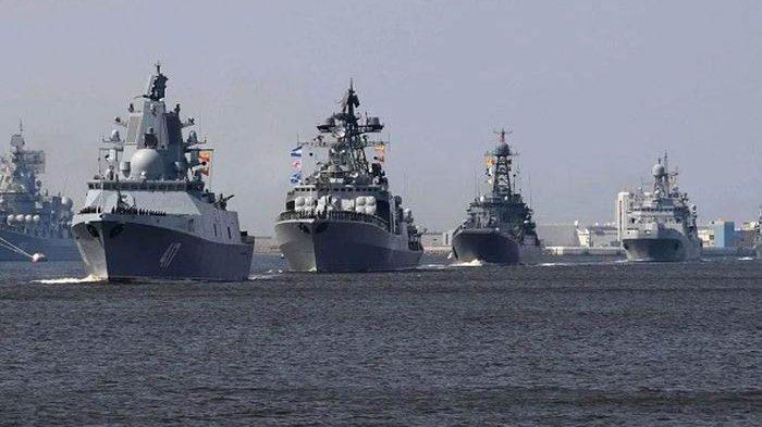 Ilustrasi Iring-iringan kapal perang China