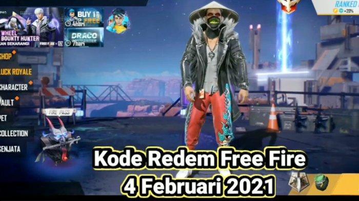 KODE REDEEM FF Hari Ini 4 Februari 2021, Buruan Klaim Kode Redeem Free Fire Terbaru